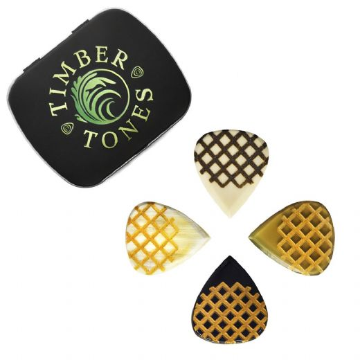 Grip Tones Mini Mixed Tin of 4 Guitar Picks